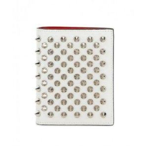 $267(原价$356)近期好价:Christian Louboutin 全铆钉对折钱包 内里红色超好看