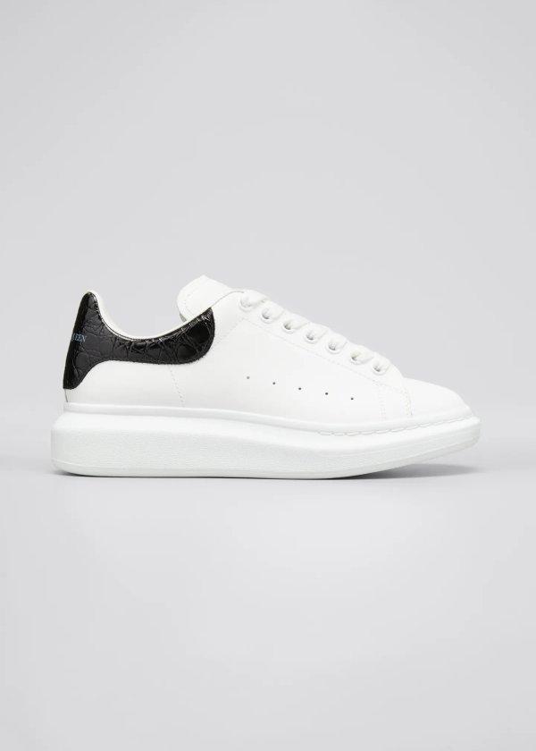 男士黑尾小白鞋