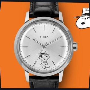 8折+包邮 经典时装款$40Timex 手表独立日特卖,玫瑰金粉水晶款$79