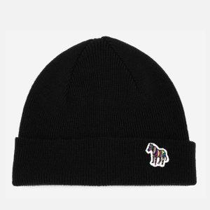Paul SmithMen's Lambswool Beanie Hat - Black