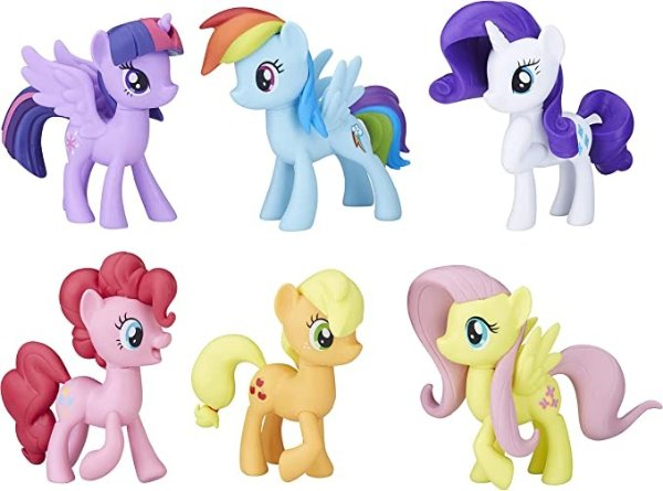 6只彩色小马套装