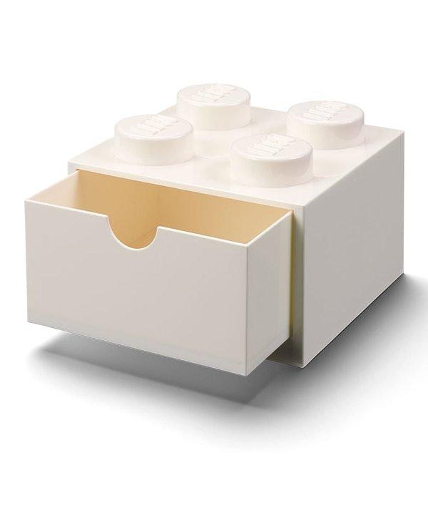 2x2 按钮白色收纳盒