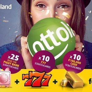 £7享受3种彩票乐趣Lottoland线上刮刮乐45张 33折热卖
