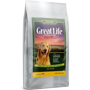 $32.39Great Life 无谷物狗粮25磅 4.5星专业评测优质高蛋白