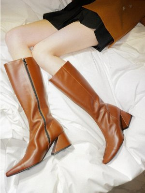 YY BY YUUL YIE Yy Boots Vol 3 -Ash Grey Camel Brown │Curated Collections of Global Independent Designers