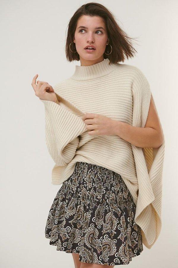 不对称毛衣