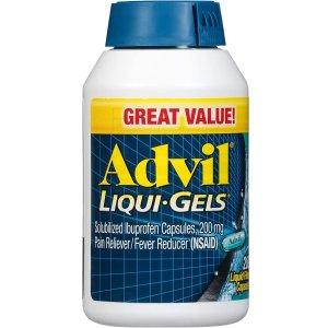 Advil 止痛退烧液态胶囊,布洛芬200mg,200粒