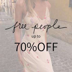 低至3折 碎花连体衣£29(原价£118)上新:Free People 夏日大促 这个夏日又仙又美丽