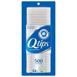 $2.98Q-tips Cotton Swabs, 500 ct