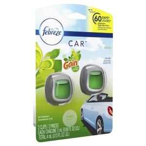 Febreze Car Air Freshener Gain Original - 2ct : Target