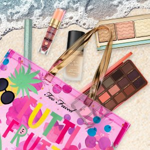 Up to $25 Off+Free BeachbagSitewide @ Too Faced