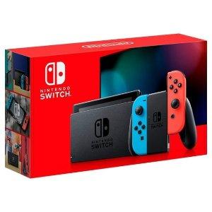 $299.99 2日送达Nintendo Switch 全新续航增强版 32GB 红蓝/灰 双色可选