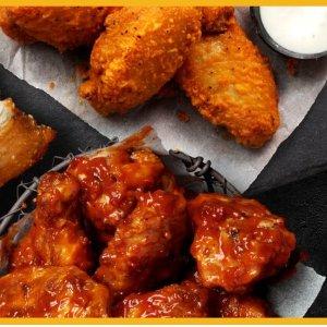 全场鸡翅$1/个限今天:Pizza Hut 周三特惠 鸡翅狂欢日