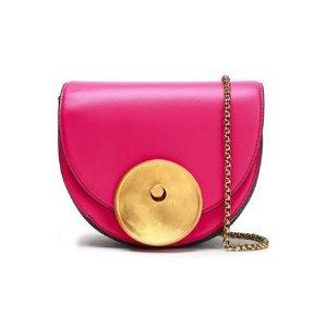 MarniMonile mini color-block leather shoulder bag