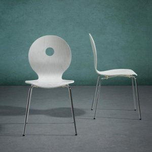 """现价€17(原价€39.8)Bessagi 白色"""" Nahia""""椅子2把 特价 需用码"""
