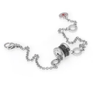 Dealmoon Exclusive: Bvlgari Sterling Silver And Ceramic Chain Bracelet