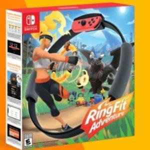 美亚开售, 游戏+配件售价$79.99《RingFit Adventure》老任最新黑科技曝光, 健身神器来了