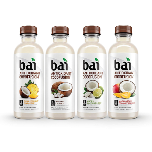 $10.56Bai Coconut Flavored Water, Cocofusions Variety Pack II, 18 Fluid Ounce Bottles