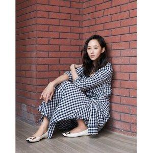 张钧甯同款格纹衬衫裙