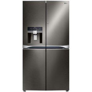 $3699 + 返现$400 + 限时包邮LG GF-5D712BSL 712L 法式5门冰箱 皓月黑