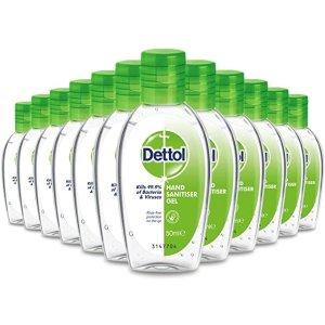 Dettol史低!57p/瓶免洗洗手液 50ml 12瓶