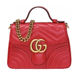 GucciRed GG Marmont Mini 手提包