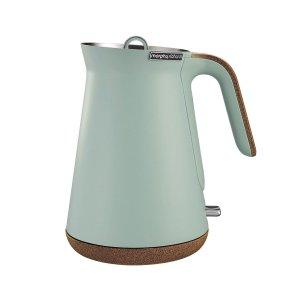 morphy richards会员价Aspect 1.5L Cork Base Electric Cordless Kettle/Boiler Mint