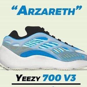 成人、大童、婴儿三款齐发新品预告:Yeezy 700 V3 新色Arzareth 8月29日发售 价格已炒翻番啦
