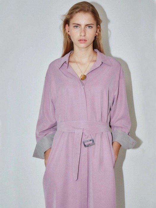 香芋紫衬衫裙