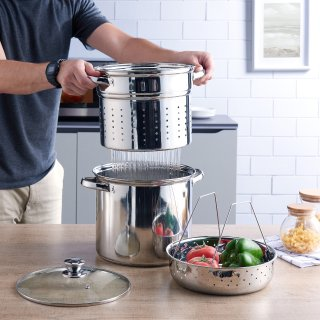 $19.46Mainstays Stainless Steel 8-Quart Steamer Set
