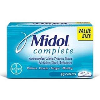 $6.34 包邮 粉丝晒货也推荐Midol 月经止痛片 40粒大包装 每月必备超有效