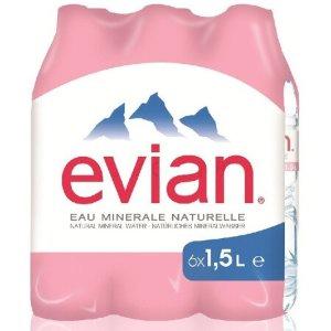 3件8折 合¥52/箱Evian 依云 法国原装进口矿泉水 1.5L*6瓶/箱
