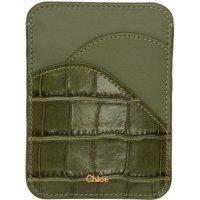 Chloe 复古绿色卡包