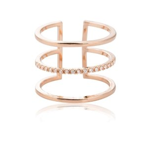 Astrid & MiyuTriple Bewitched ring in rose gold