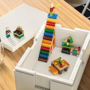 低价实用 即将上市新品预告:LEGO x IKEA 合作款收纳搭建盒