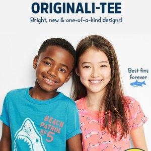 包邮 T恤$3.36 打底裤$3.84 新款白菜价限今天:OshKosh BGosh 儿童服饰鞋履等低至3折+额外8折