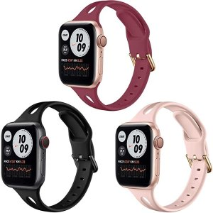 Songsier iWatch Band Silicone Sport Replacement Straps