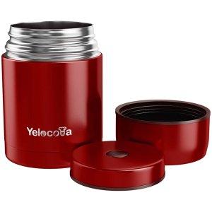 $26.04(原价$35.99)Yelocota 焖烧罐27oz 宽口不锈钢汤盅 双臂真空保温 多色选择