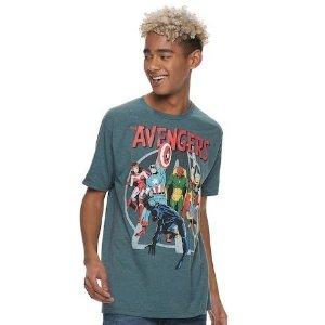 7件$30 + 免邮 女士可以当Oversize穿Kohl's 男士图案T恤热卖 《新球大战》等都有