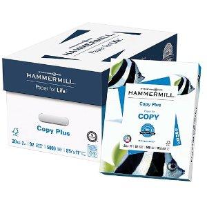 $95.96 囤20000张打印纸Hammermill Copy Plus 打印纸 5000张/箱 4箱