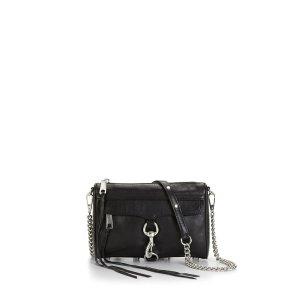 Rebecca MinkoffBlack & Silver Mini M.A.C. Crossbody Bag | Rebecca Minkoff