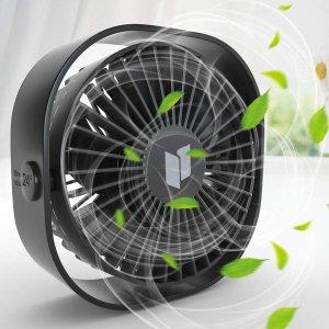 折后仅€9.59 3挡风力可调Renfox USB桌面静音风扇 享受丝丝的凉风