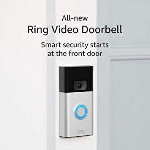 Ring Video Doorbell 智能门铃– Ring's #1 selling video doorbell – Satin Nickel – 2020 release