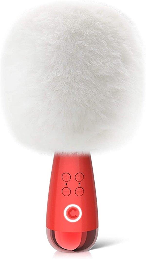 G2 无线嗨歌麦克风 白色绒毛罩款