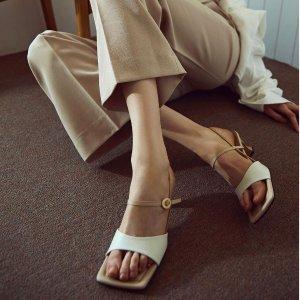 低至5.5+叠9折 牛油果穆勒鞋$190Rachel Cox 韩国精致微复古美鞋 纯手工匠心之作