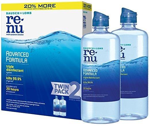 好价回归:博士伦 ReNu 隐形眼镜清洁理液 354ml 2瓶