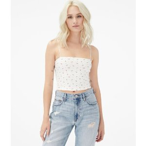 Aeropostale15% off $75Seriously Soft Tiny Floral Cropped Bungee Cami