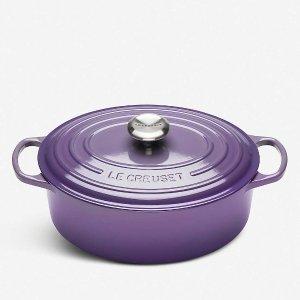 Le Creuset29cm紫色铸铁锅