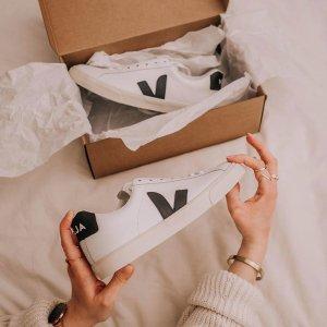 无门槛7.5折 $105收绿v小白鞋手慢无:Veja 法国环保小白鞋专场 简洁时髦好搭配