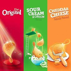 $6.16Pringles Snack Stacks Potato Crisps Chips, 3 Flavors Variety Pack, 18 Cups
